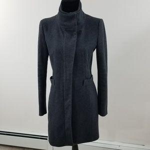 Zara Basic Gray Coat size small